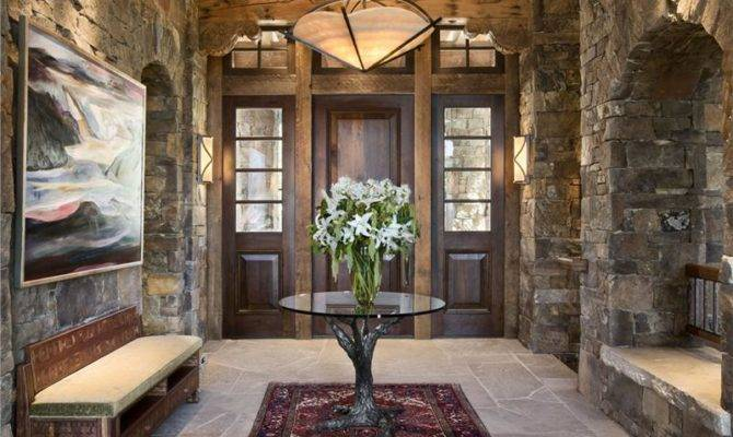 Cozy Country Rustic Foyer Jerry Locati