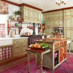 Cozy Kitchen Warm Colors Traditional Home