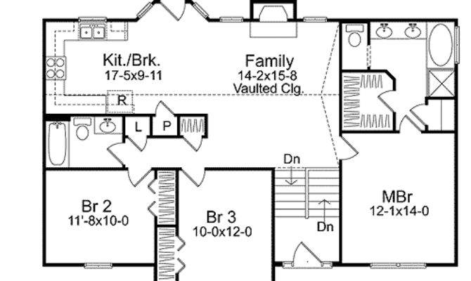 Cozy Split Level House Plan Narrow Lot