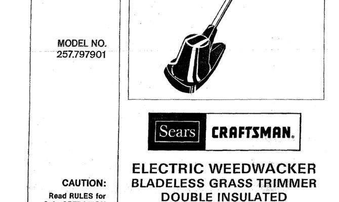 Craftsman Electric Weedwacker Line Trimmer Manual