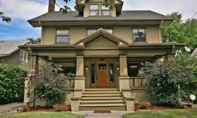 Craftsman Foursquare House Plans Pinterest Pin