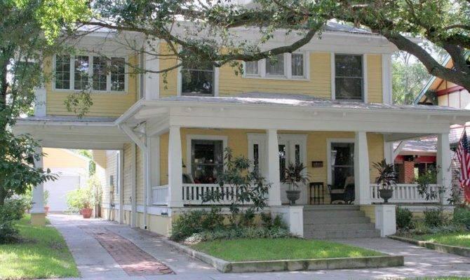 Craftsman Foursquare Tampa Florida Oldhouses