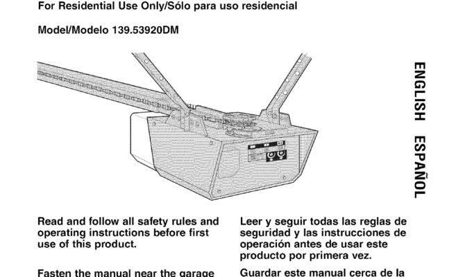 Craftsman Garage Door Opener Manual Dandk