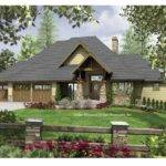 Craftsman Home Plan Down Sloping Lot
