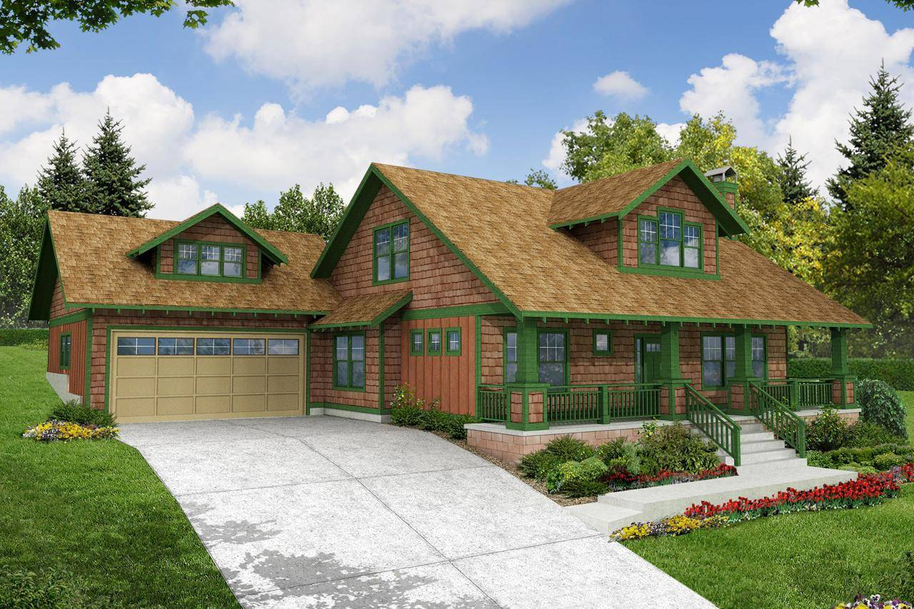 Craftsman House Plan Carrington Front Elevation