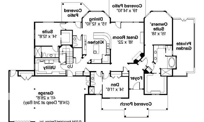 Craftsman House Plan Cedar Creek First Floor