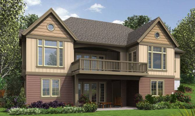 Craftsman House Plan Finished Daylight Basement Dfd