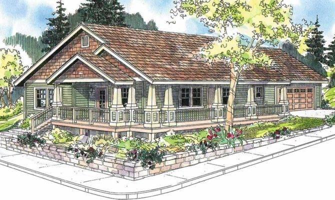 Craftsman House Plan Karsten Front Elevation