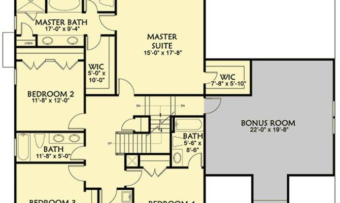Craftsman House Plan Main Floor Game Room Bonus