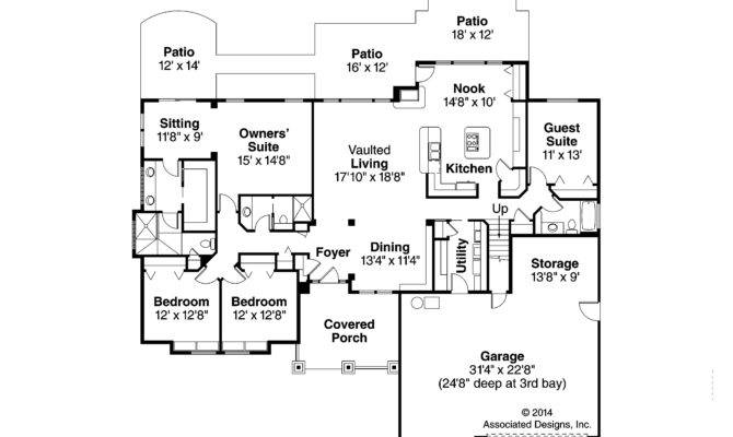 Craftsman House Plan Pinedale First Floor