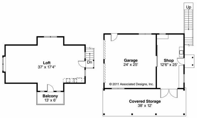 Craftsman House Plans Car Garage Loft