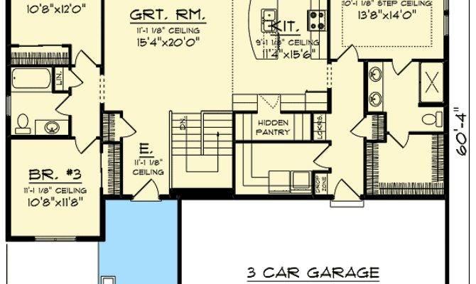 Craftsman Open Concept Floor Plan