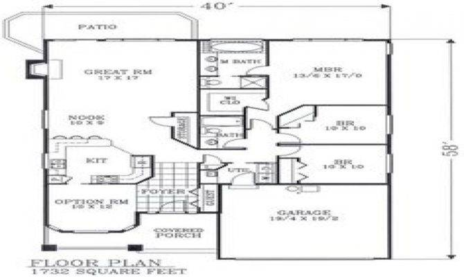 Craftsman Open Floor Plans Bungalow