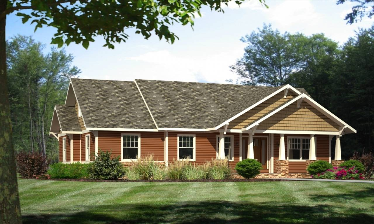 Craftsman Ranch Style Modular Homes House Plans