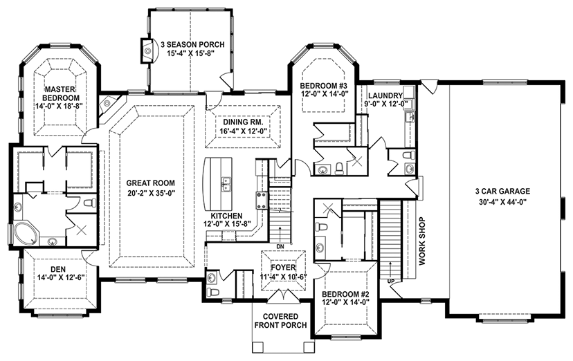 Craftsman Story Retreat Open Floor Plan