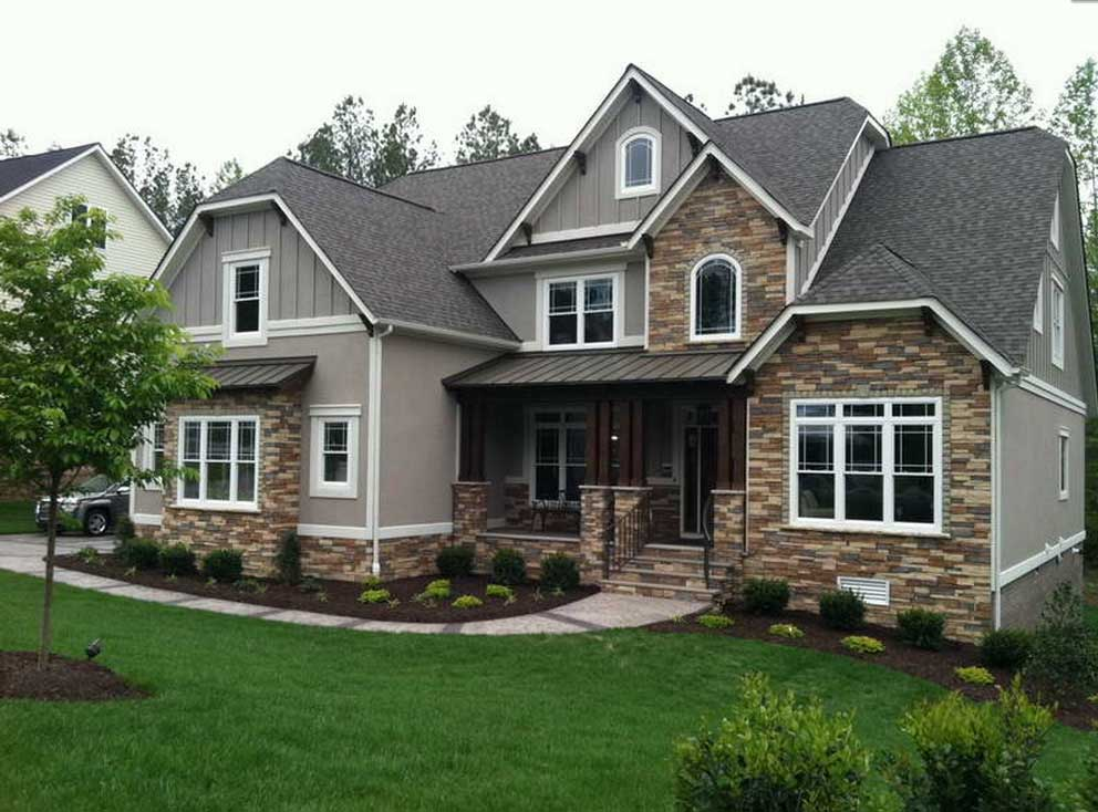 Craftsman Style Homes Gray Wall Paint Color