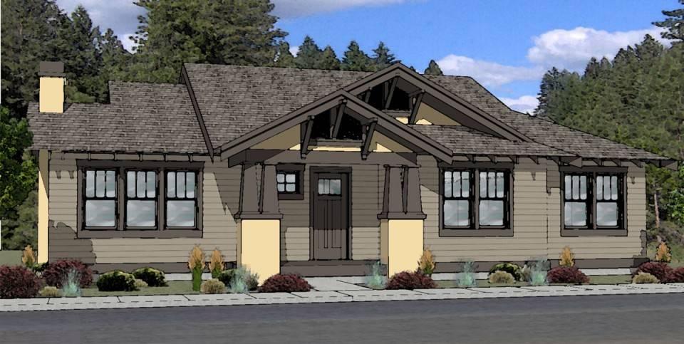 craftsman style house plan bend oregon boards plans cozy