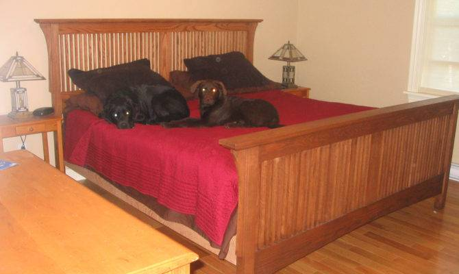 Craftsman Style King Sized Bed Built