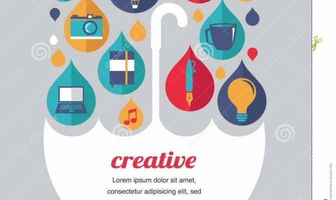 Creative Umbrella Idea Design Concept Vector