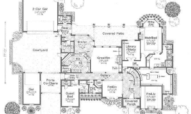 Croatia Luxury European Home Plan House Plans