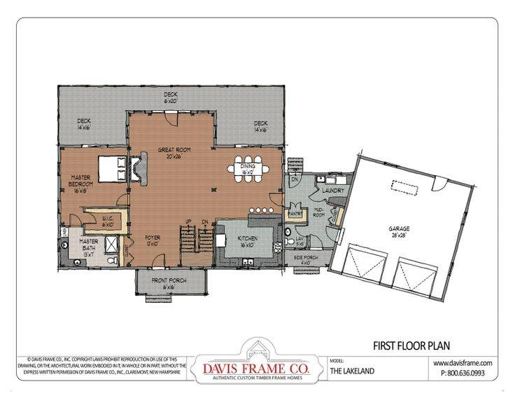 Cross Gable Open Concept Floor Plan