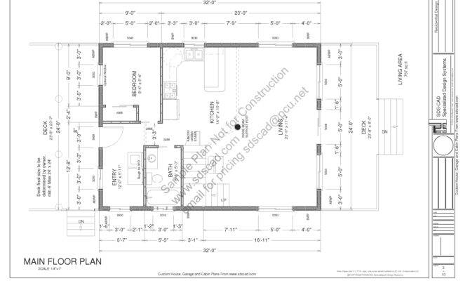 Custom Cabin Plans Blueprints Construction Drawings