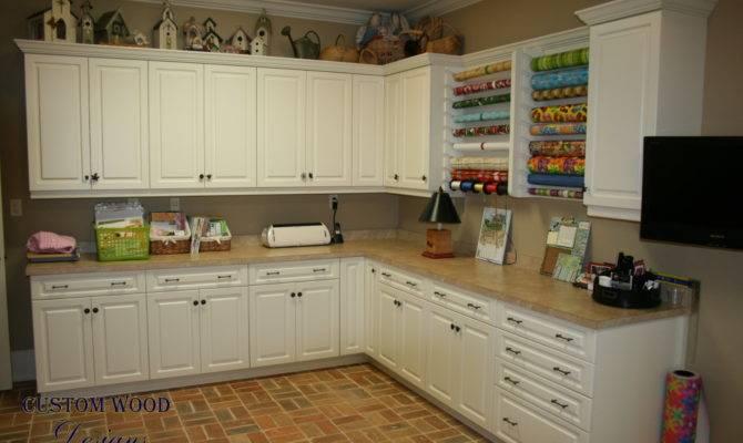 Custom Craft Room Cabinets