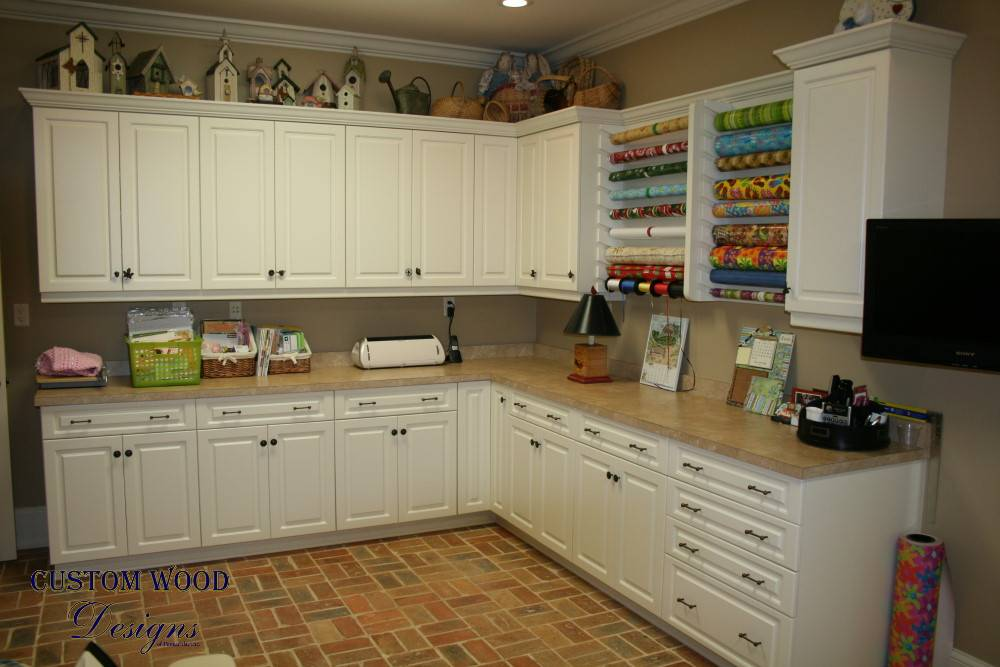 Custom Craft Room Cabinets