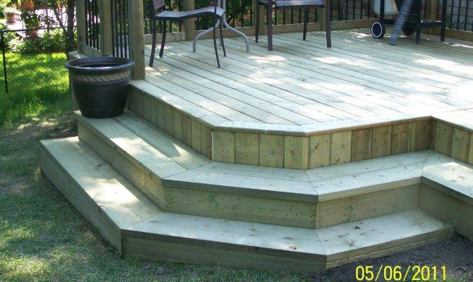 Custom Deck Stairs Design Ideas Barrer Contracting Services