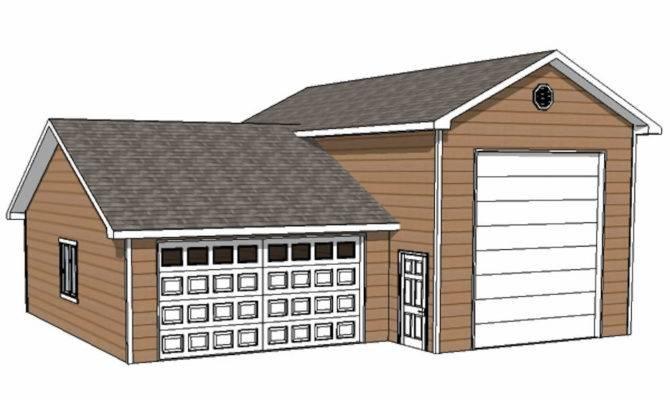 Custom Garage Plans Storage Shed Detached