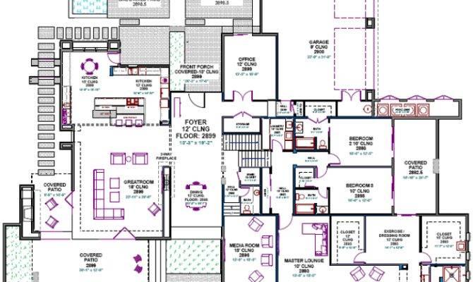Custom House Plans Southwest Contemporary Home