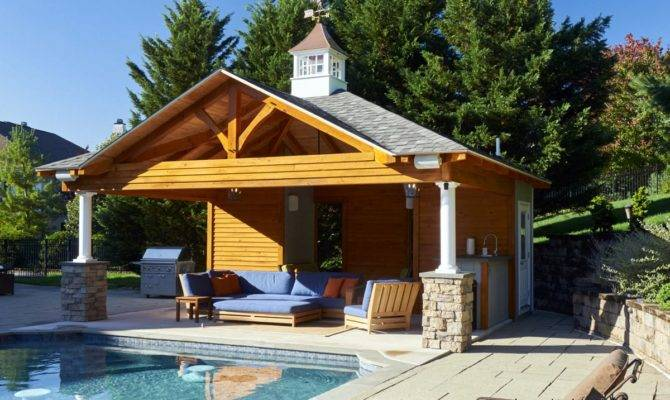 Custom Pool House Plans Ideas Cabanas New