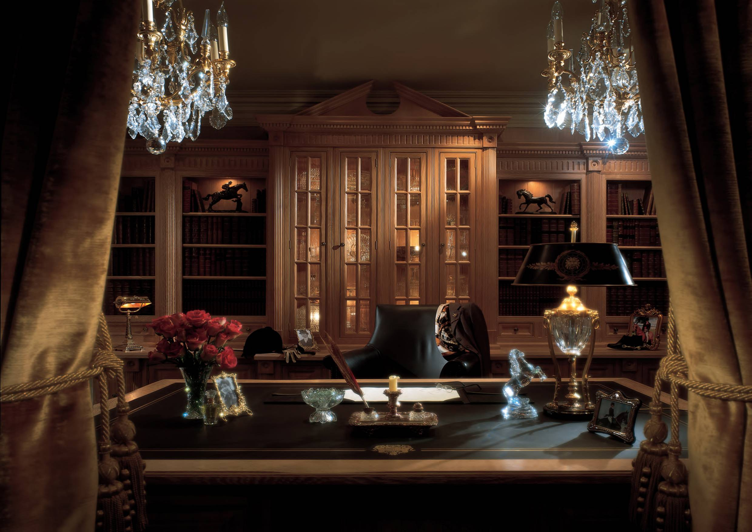 Custom Study Home Office Blends Luxury Classic