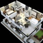 Cut Model Duplex House Plan Interior Design