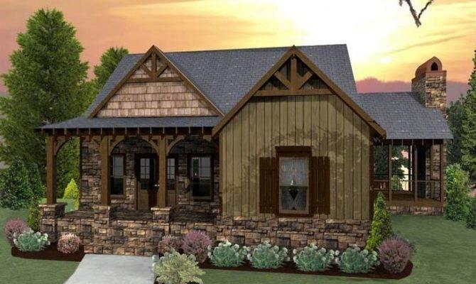 Cute Tiny House Plan Log Cabins Rustic Homes Pinterest
