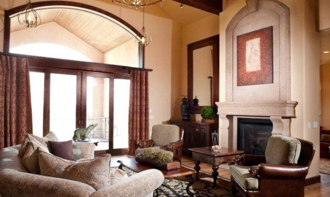 Dark Stained Beams Living Room Traditional Wood Trim