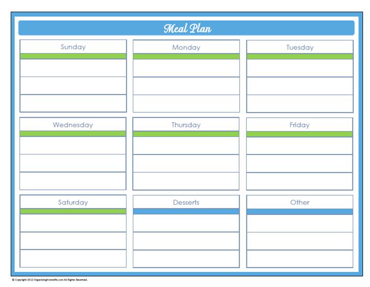 Days Home Management Binder Printables Day