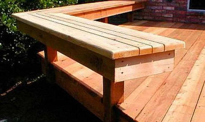Deck Bench Plans Outdoor Building Construction Decking