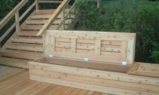 Deck Benches Make Great Place Potted Plants Sit Well