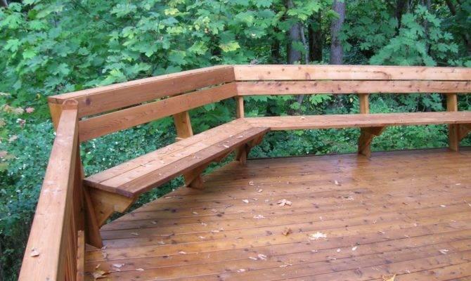 Deck Benches Plans Indoor Outdoor Design Ideas