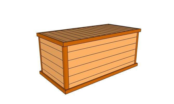 Deck Box Plans Outdoor Diy Shed Wooden
