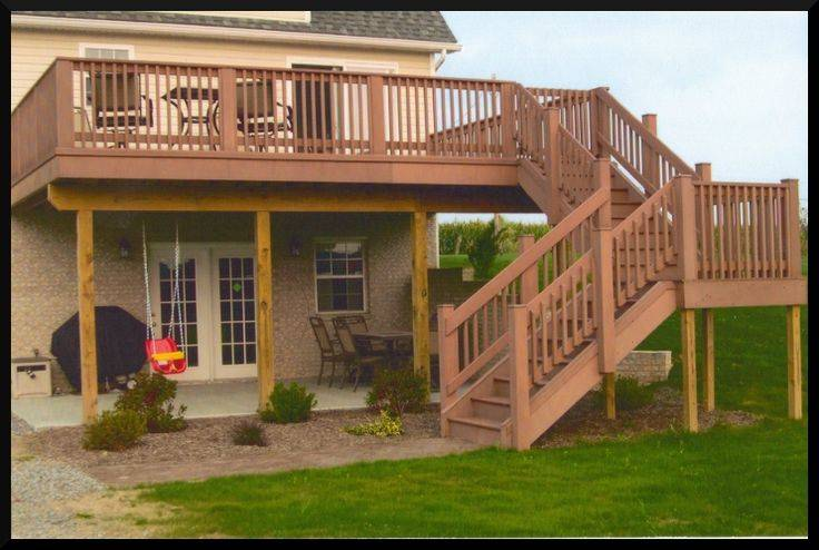 Deck Ideas Pinterest Decks Two Story Second