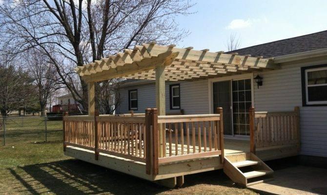 Deck Pergola Cedar Railings