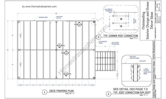 Deck Plan Blueprint Pdf Document