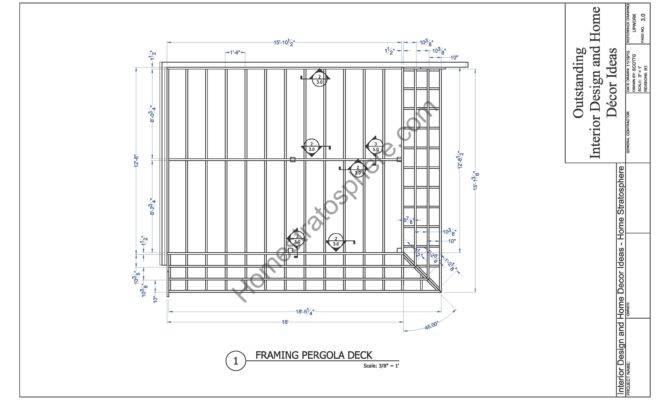 Deck Plan Pergola Pdf Blueprint