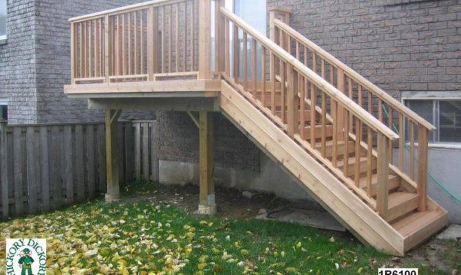 Deck Plan Small Single Level Landing Suitable