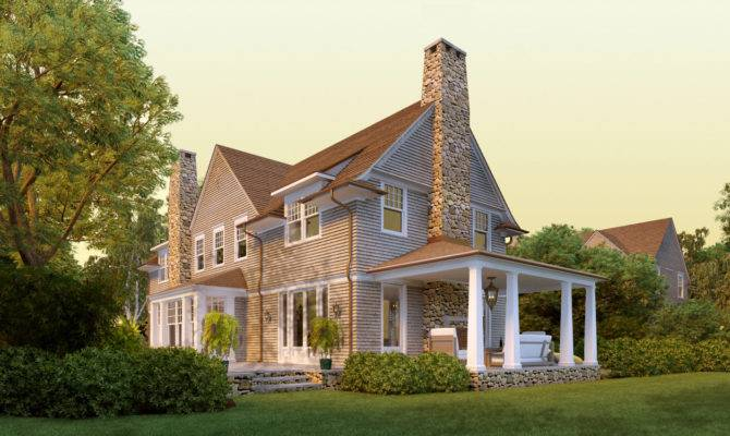 Deer Pond Shingle Style Home Plans David Neff Architect