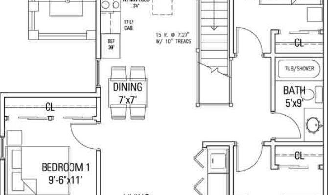 Delaware Street Commons Cohousing Flat Floor Plan