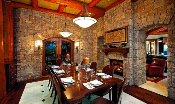 Delightful Log Home Dining Rooms