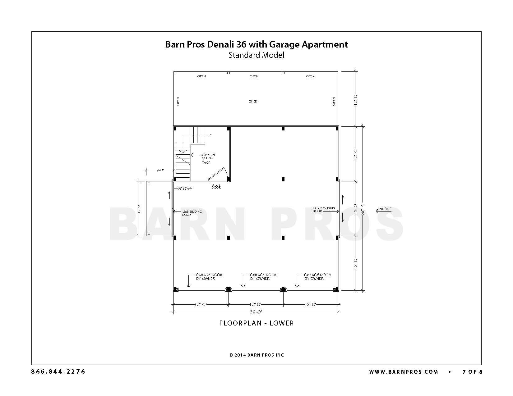 Denali Barn Garage Apartment Floorplans